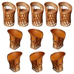 Set of 11 Mexican Origin Equipale Chairs