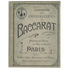 Compagnie Des Cristalleries De Baccarat 'Trade Catalogue'
