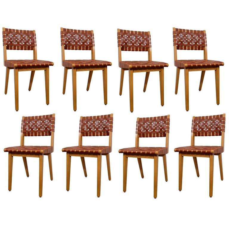 Jens Risom Set of Eight Chairs 1