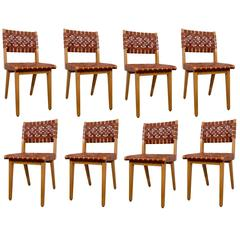 Jens Risom Set of Eight Chairs