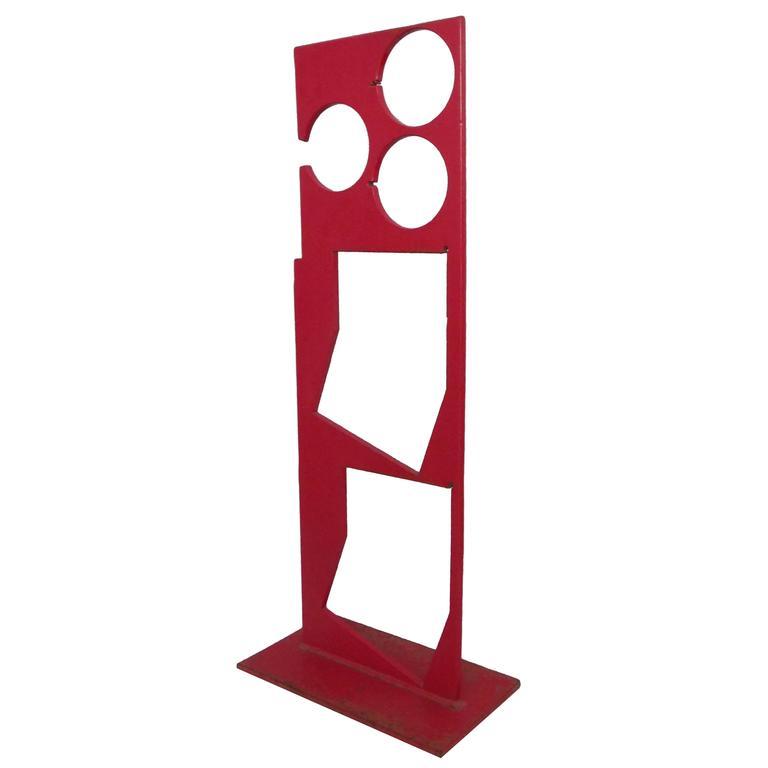 Floor Standing Geometric Sculpture