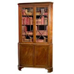Early 19th Century George III Mahogany Corner Cupboard
