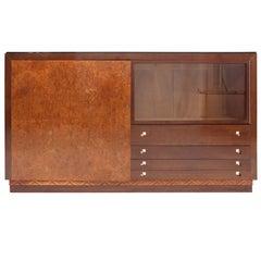 Charles Van Beerleire Art Deco Mahogany Credenza