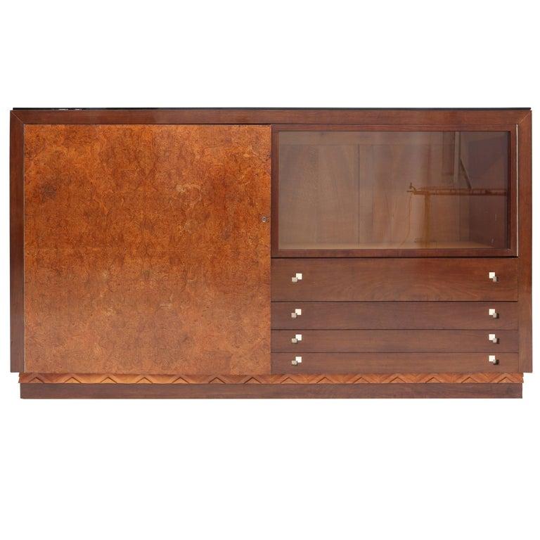 Charles Van Beerleire Art Deco Mahogany Credenza For Sale