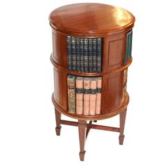 19th Century George III Mahogany Open Revolving Bookcase