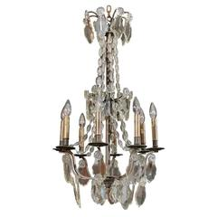 Handsome Glass Bead and Crystal Chandelier