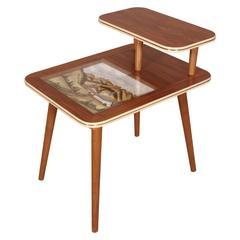 Mid-Century Modern Service Decorative Coffee Table Cortina D'ampezzo Posta Hotel