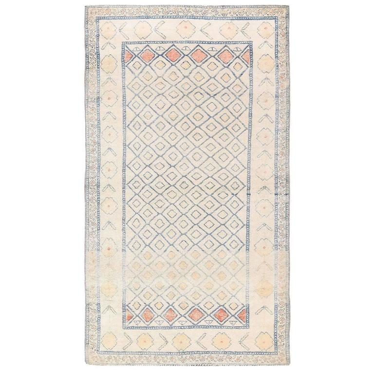 Antique Cotton Agra Rug With Abrash Circa 1900 For Sale: Antique Cotton Indian Agra Rug For Sale At 1stdibs