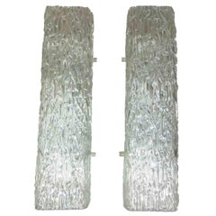 Pair of Kaiser Ice Glass Vanity Sconces