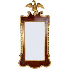 19th Century Centennial Mahogany and Gilt Chippendale Mirror