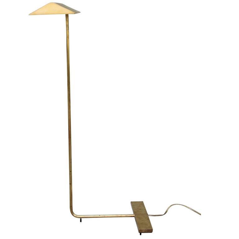 Signed Cedric Hartman Modern Brass Swivel Reading Lamp For Sale