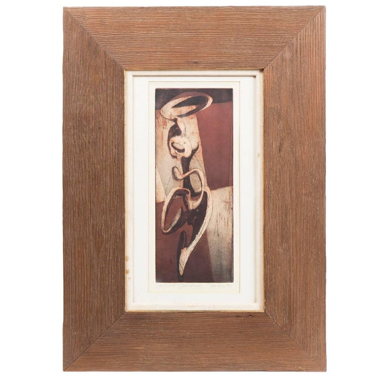 """Thomas Lias """"Portrait of Josephine"""" Framed Etching For Sale"""