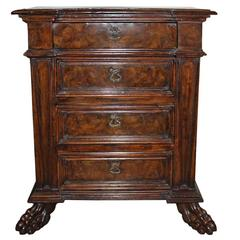17th Century Tuscan Walnut Commodino