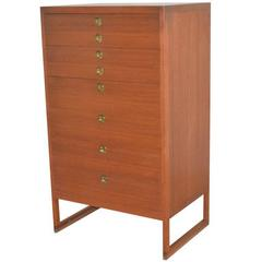 Tall Chest with Drawers in Teak by Børge Mogensen, P. Lauritsen, Denmark