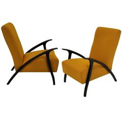 Pair of Stylish Italian Armchairs