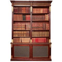 Early 19th Century Regency Mahogany Open Bookcase