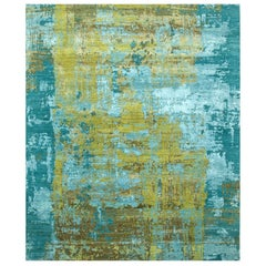 Modern Contemporary Design Rug Turquoise