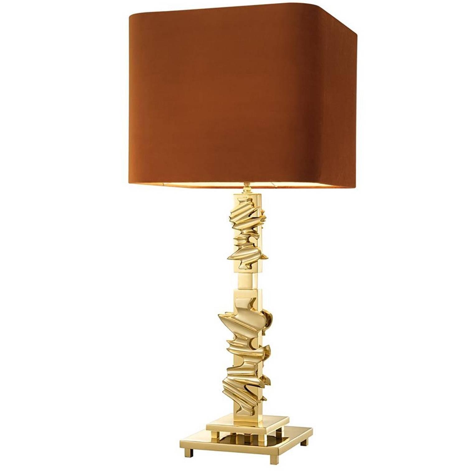 Braza Table Lamp in Brass or Nickel Finish