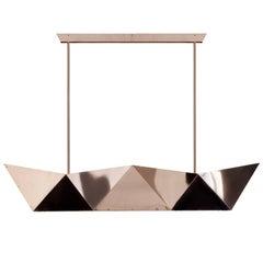 """Ceiling lamp """"Deriva"""" in Copper, Alessandro Mendini for Fragile Edizioni, 2015"""