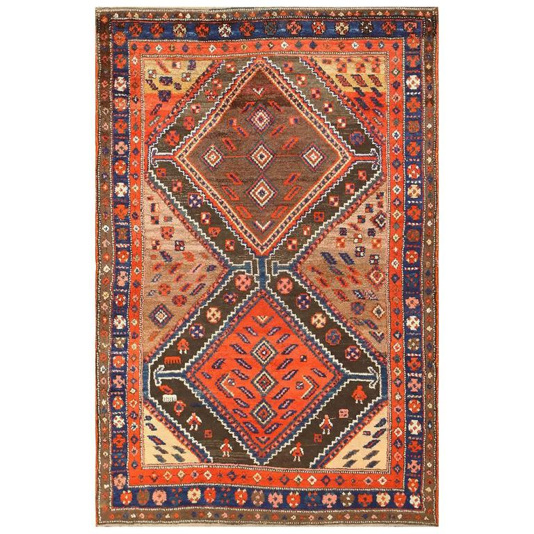 Beautiful Antique Persian Tribal Rug