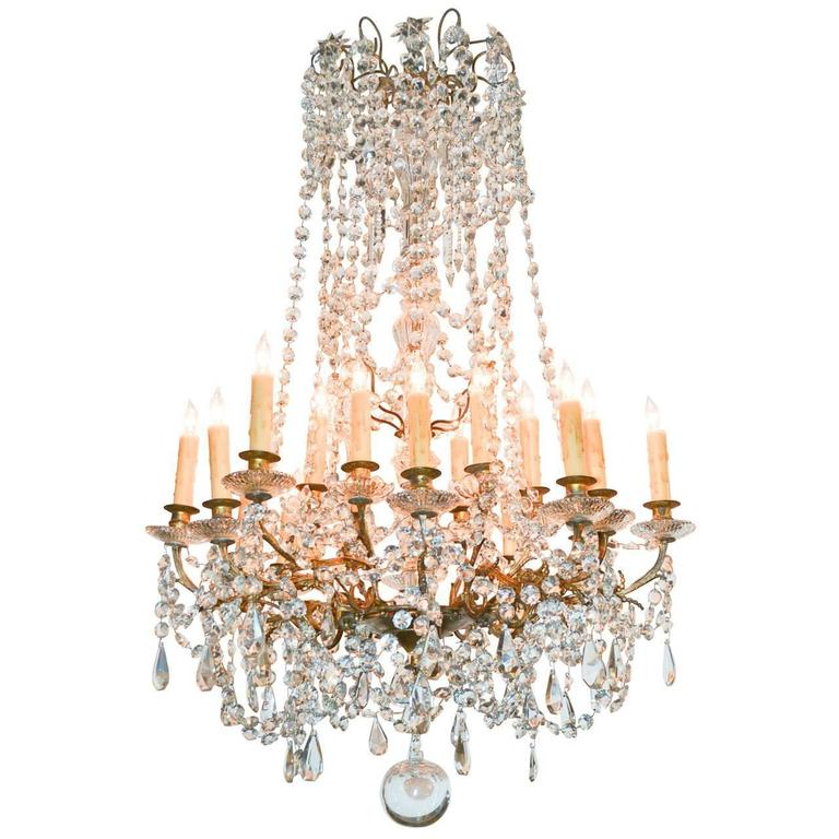 Fine 19th century french crystal chandelier for sale at 1stdibs fine 19th century french crystal chandelier for sale aloadofball Images