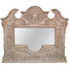 19th Century Italian Carved Oak Mirror