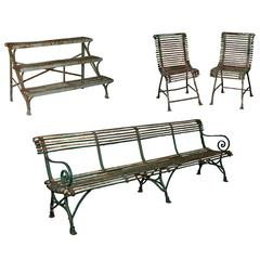 19th Century French Arras Garden Furniture, Four-Piece Set