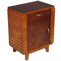 Mid-Century Modern Art Deco  Nightstand in Walnut, Gio Ponti atributable, Cantù