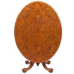 19th Century Regency Tip Up Walnut Dining Table