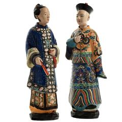Pair of Early 19th Century Terracotta Nodding Figures
