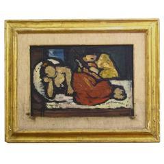 Italian, 20th Century Signed Oil on Canvas Painting by Oscar Barblan