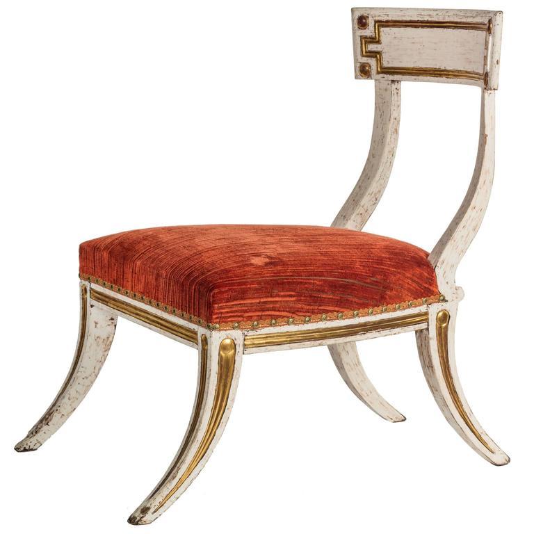 Regency Single Klismos Chair For Sale At 1stdibs