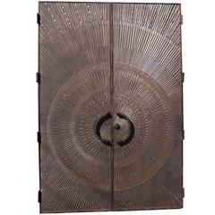 "Massive ""Heroic Sunburst"" Double Sided Bronze Doors by Forms + Surfaces"
