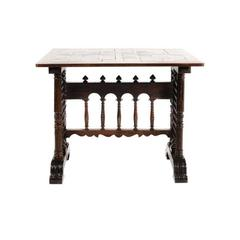 Antique Late 19th Century French Renaissance Revival Walnut Table