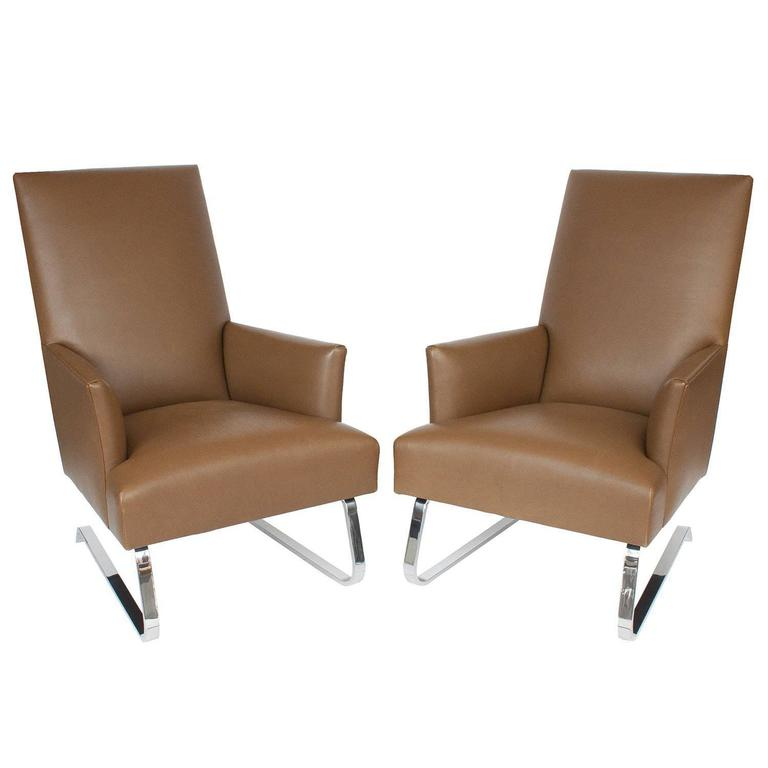 Pleasant Pair Of Donghia Odeon Lounge Chairs For Sale At 1Stdibs Evergreenethics Interior Chair Design Evergreenethicsorg