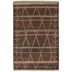 Brown Modern Moroccan Style Rug