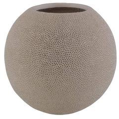 Pierced Round Earthenware Vase