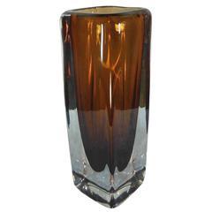 1970s Kosta Boda Art Glass Vase Sommerso