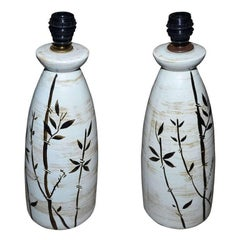 Pair of 1960s Ceramic Lamps