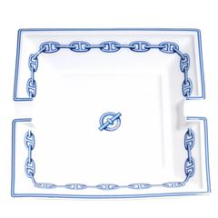 HERMES Printed Porcelain Chaine D'ancre Ashtray