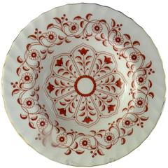 Royal Crown Derby Porcelain Rougement Pattern Rim Soup Plates Set of 12