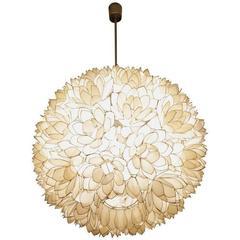 Capiz Shell Pendant Lamp, 1970s