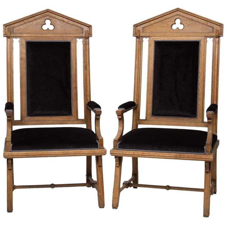 Vintage Moorish Style Large Armchairs For Sale