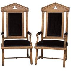 Vintage Moorish Style Large Armchairs