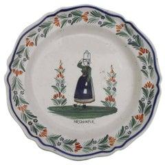 19th Century Large French Faience Quimper Platter Henriot Quimper