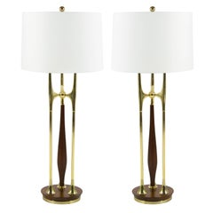 Large-Scale Sputnik Table Lamps by Laurel