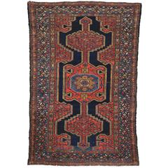 Antique Persian Hamadan Rug with Modern Tribal Style