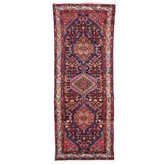 Vintage Persian Hamadan Runner with Modern Tribal Style