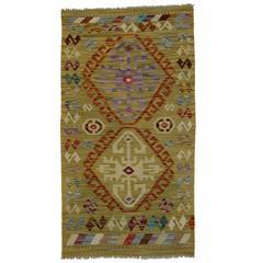Modern Afghani Tribal Kilim Rug with Boho Chic Style, Flatweave Kilim Rug