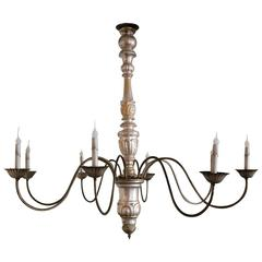 Large Italian Silver-Gilt Chandelier